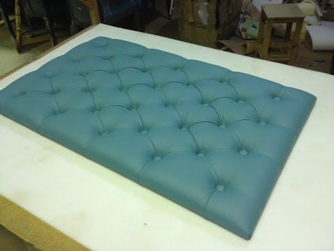 Мягкая панель для кровати своими руками 34