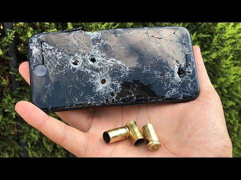 iPhone 7 Sağlamlık Testi (Silahla Delik Deşik Ettik!)