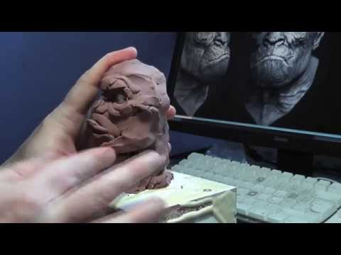 ape man sculpture part 1 by Roquelaine Cyril