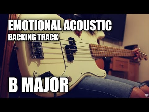 Emotional Acoustic Piano Guitar Backing Track In B Major