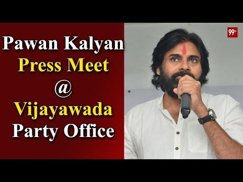Janasena Chief Pawan Kalyan Press Meet at Vijayawada Janasena Office | | 99TV