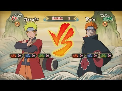 Naruto Sage Mode Vs Pain video