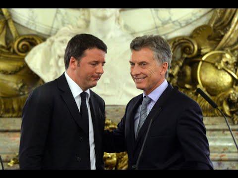 El presidente Macri se reunió con el primer ministro de Italia, Matteo Renzi.