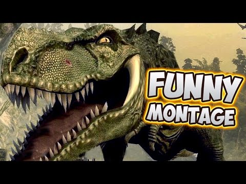 Dinosaurs & Man - Jurassic The Hunted Funny Montage