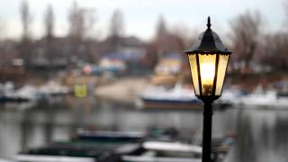 Footage Town lamppost | A vintage old style electric lamppost