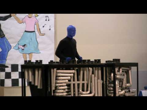 Here is part 1 of my Blue Man performance at River Grove Elementary School. I performed my original medley in this segment. Songs are... - Linus and Lucy - T...