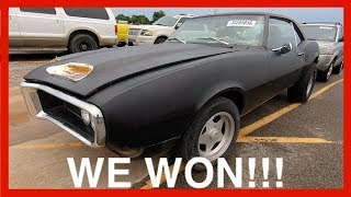 We Won!!! BONUS Copart Walk Around + New Project Car!