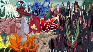 9 Vĩ Thú VS 9 Thành Viên Akasuki - Naruto Song Đấu