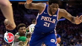 Joel Embiid calls Marcus Smart's shove a 'cheap shot' | NBA Sound