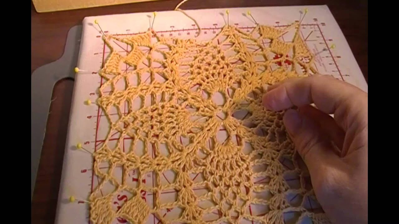 Crochet Blocking : Blocking Crochet - YouTube