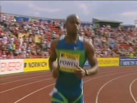 Asafa Powell  100m WR(9.77)Gateshead,2006