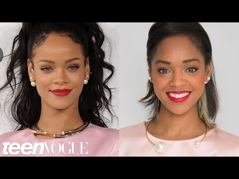 How to Get Rihanna's Bold Red Lip -- Teen Vogue's Get the Look klip izle