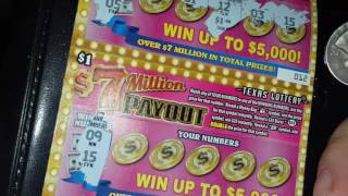 4X $1 7 Million Dollar Payout Texas Lottery Scratch Off Tickets