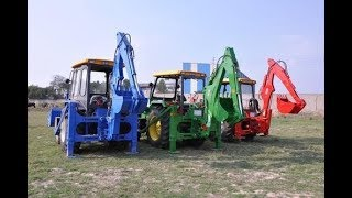 Tractor Backhoe Loader attachment on Mahindra