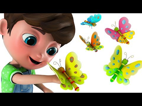 Happy and Snappy Counting Numbers 1 to 10 with Butterfly Song | Happy Snappy TV