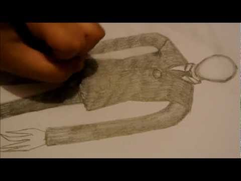 Slender Man Easy Drawing How to Draw Slenderman