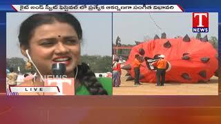 Live Report From Parade Grounds - Kite and Sweet Festival Celebrations  Telugu - netivaarthalu.com
