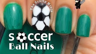 Soccer Ball Nail Art Tutorial by The Crafty Ninja
