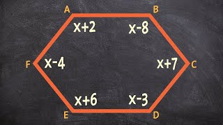 Given a polygon, solve for x and all of the interior angles using sum of interior angles