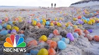 Thousands Of Kinder Eggs Wash Ashore In Germany Following Storm | NBC News