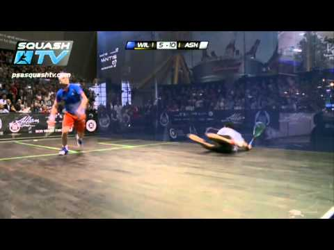 ‪Squash : James Wilstrop v Ramy Ashour : PSA British Squash Open 2012‬ Semi-Final Roundup