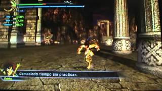 Caballeros del Zodiaco PS3 DLC Dohko de Libra Pt 1 Circuito Dif Bronce