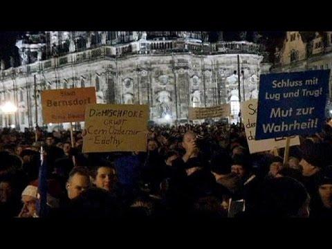 مظاهرة معادية للإسلام في دريدسن بألمانيا