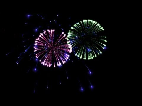 Green screen fireworks download