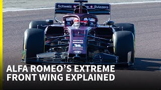 'The strangest front wing we've seen so far' - Alfa Romeo F1 technical analysis