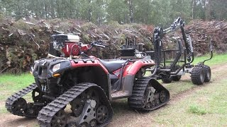 Vahva Jussi 400 and Polaris 850 PROSPECTOR PRO Tracks