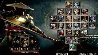 MORTAL KOMBAT 11 - All Characters FULL ROSTER (All 25 Characters + Costumes) MK11 2019
