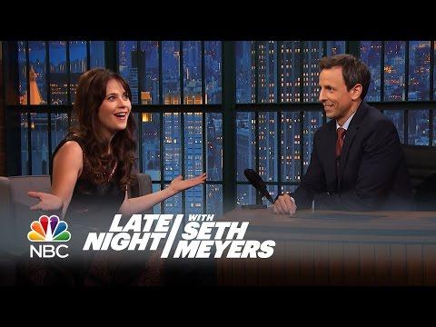 Zooey Deschanel: Kobe Bryant Crashed The New Girl Set - Late Night With Seth Meyers