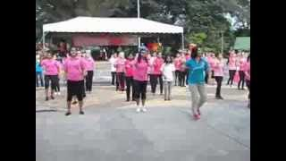 Flash Mob at the Pink October Festival, Ipoh