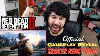 Red Dead Redemption 2- Official GAMEPLAY VIDEO l TRAILER REACTION!!!