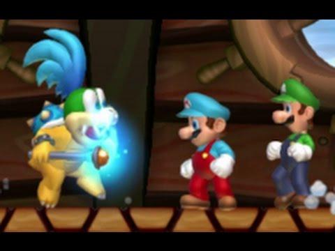 New Super Mario Bros. U Co-op Walkthrough - World 3 - Sparkling Waters (All Star Coins)