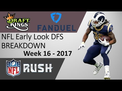 NFL Late Week DFS Breakdown - Week 16 2017 - DraftKings and Fanduel