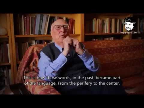 Andrea Camilleri - The Recovery of the Italian Language (English Subtitles)