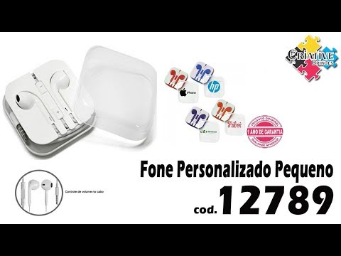 Fone de Ouvido Pequeno Personalizado 12789 - Criative Brindes