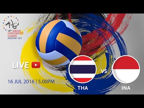 Volleyball Men's Finals: Thailand vs Indonesia | 18th ASEAN University Games Singapore 2016