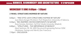 V Symposium Bionics, Biomimicry and Architecture - Panel 2