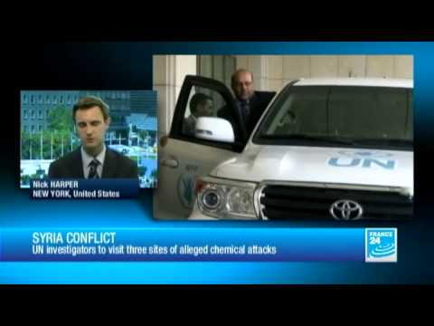 Syria conflict : UN team allowed to investigate chemical weapon use