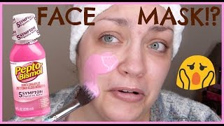 HACK OR HOAX | Pepto Bismol Face Mask