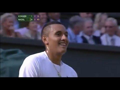 Nick Kyrgios hits 'shot of the year' v Nadal - Wimbledon 2014
