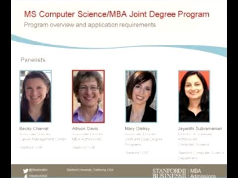 Stanford Joint Degree Programs: MBA/MS Computer Science