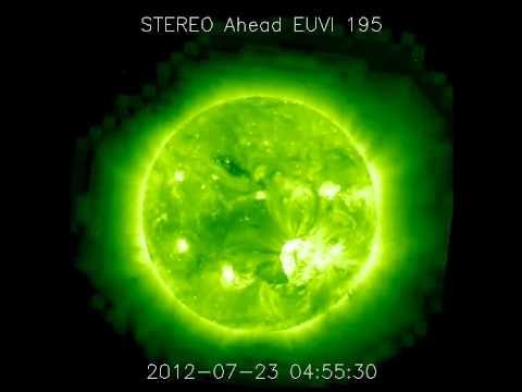 STEREO Ahead Proton Bombardment (7/23/2012)