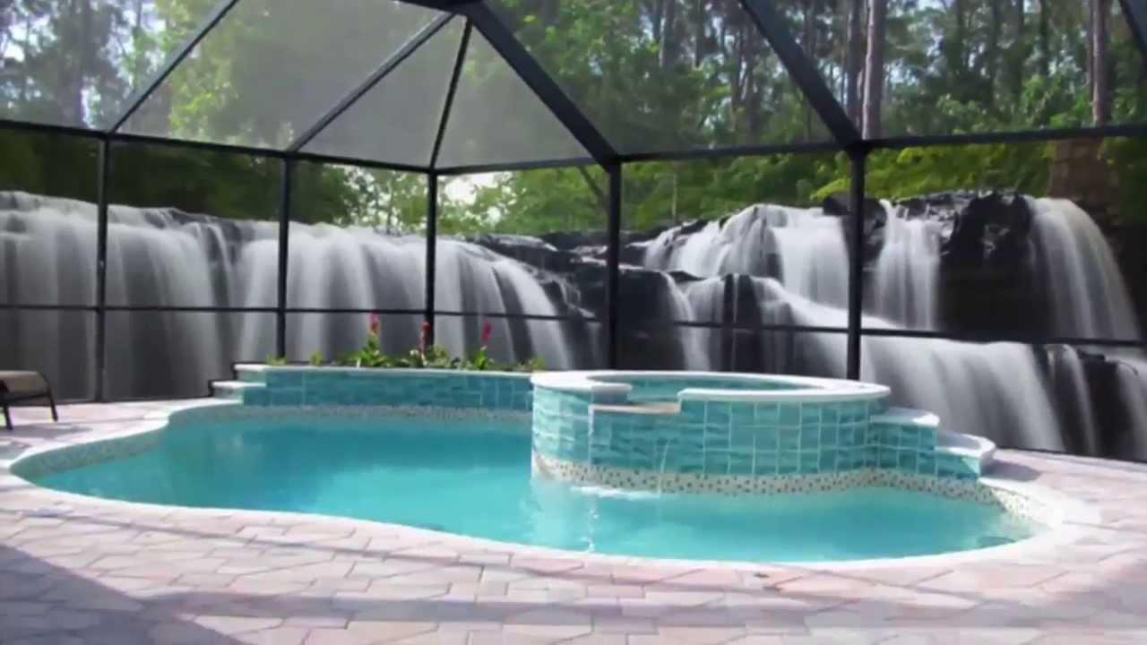Unique patio scenes with gulf coast aluminum naples for Privacy pool screen