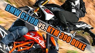 2018 BMW 310R vs KTM 390 Duke