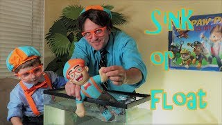 Blippi #1 Fan Sink or Float  Science Experiment for Kids learning and education