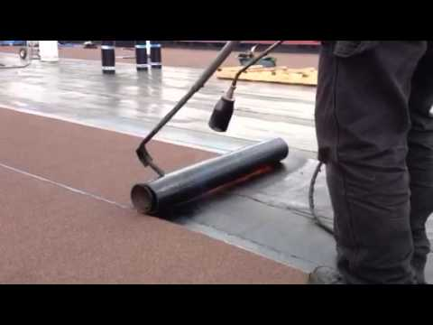 Flat Roofing Soprema 250 Gr Cap Sheet Torch On Youtube
