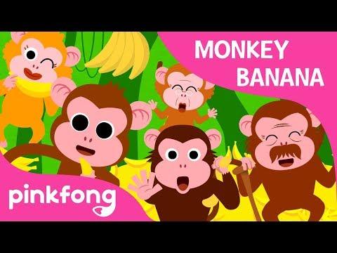 Monkey Banana | Animal Songs | PINKFONG Songs for Children